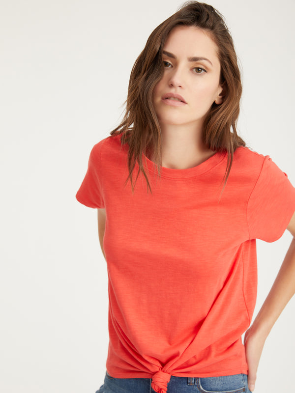 Perfect Knot Tee Sugar Coral