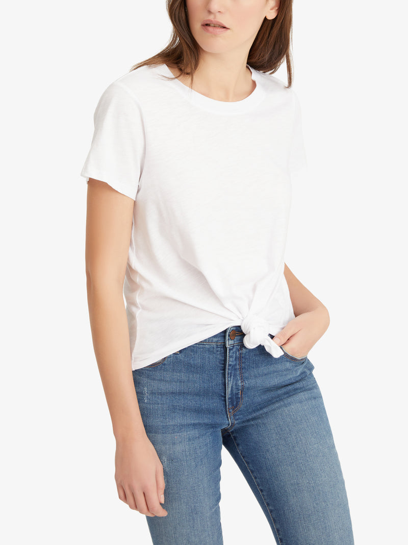 Perfect Knot Tee White - Knit Top
