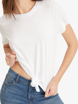 Perfect Knot Tee White - White / XS - Knit Top