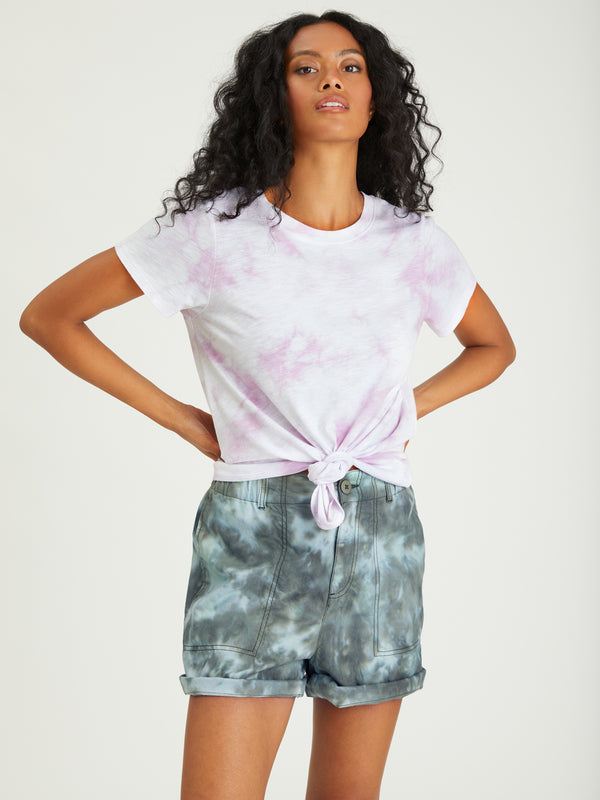 Perfect Knot Tee Lavender Ice Tie Dye - Knit Top