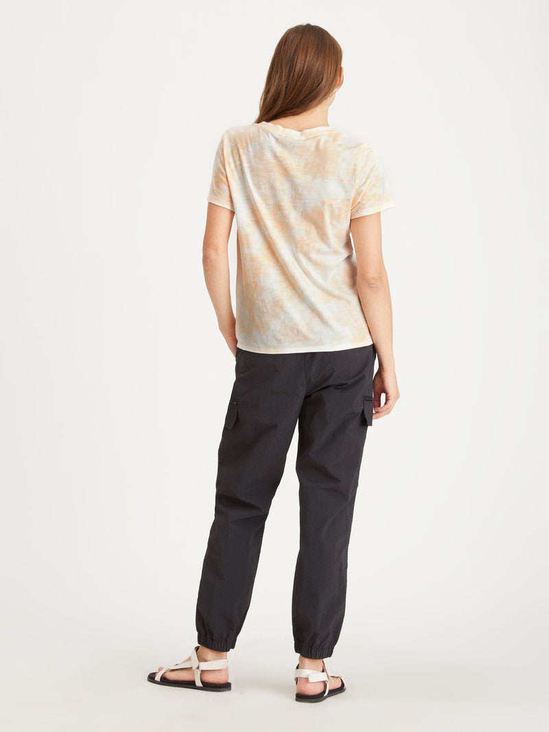 Perfect Knot Tee Orange Sherbert Tie Dye - Knit Top