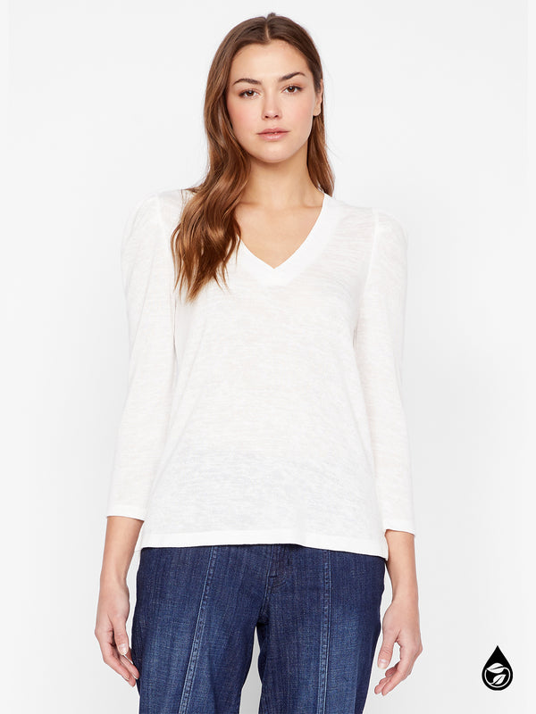 Pleated Sleeve Top Hanna Milk