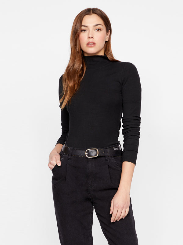 Mock Neck Essential Black