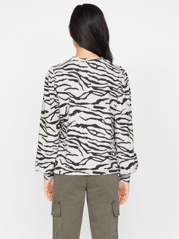 Wild Love Tee Heather Zebra