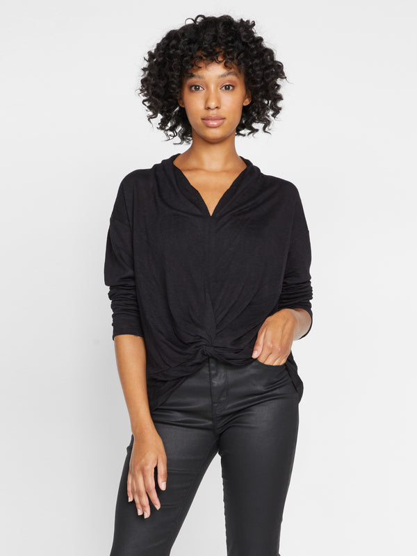 Knot Interested Top Black