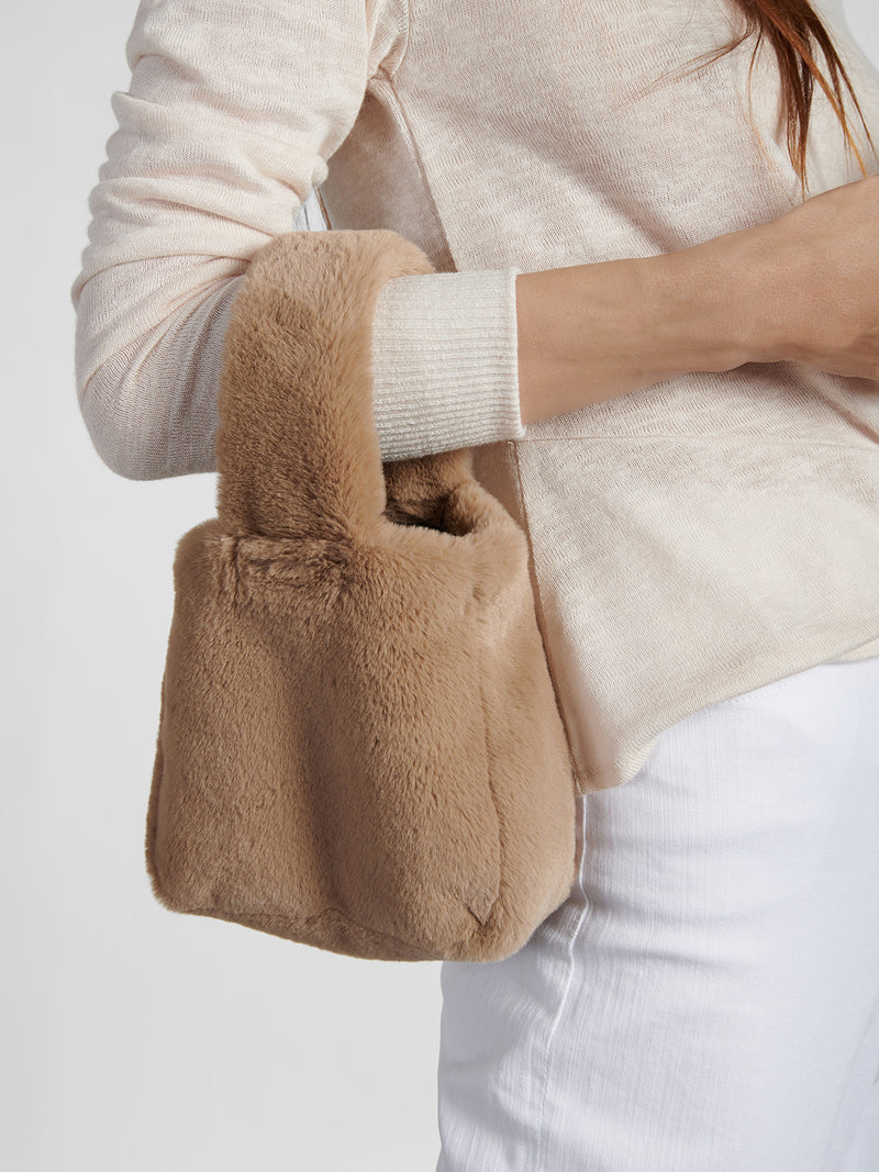 Fur Bracelet Bag Mink