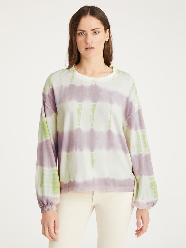 Perfect Sweatshirt Pink Lime Tie Dye