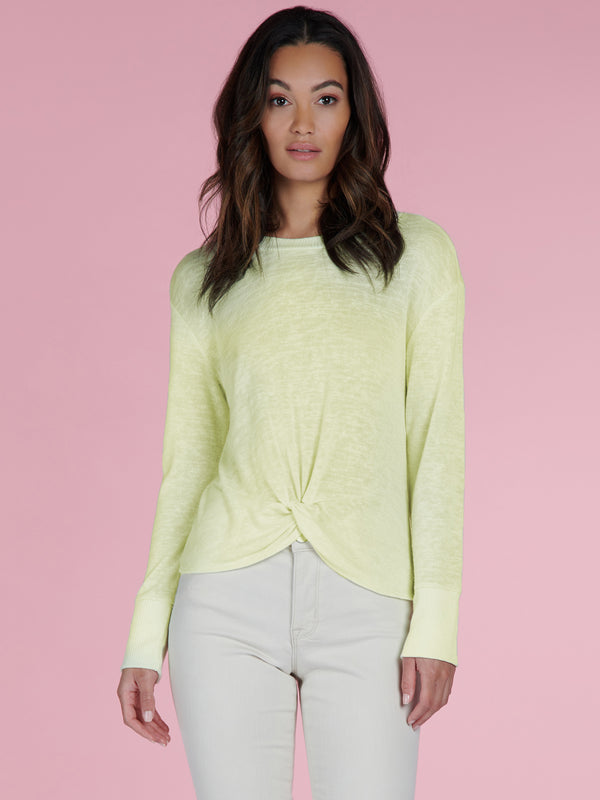 Knotted Tee Lime Cream