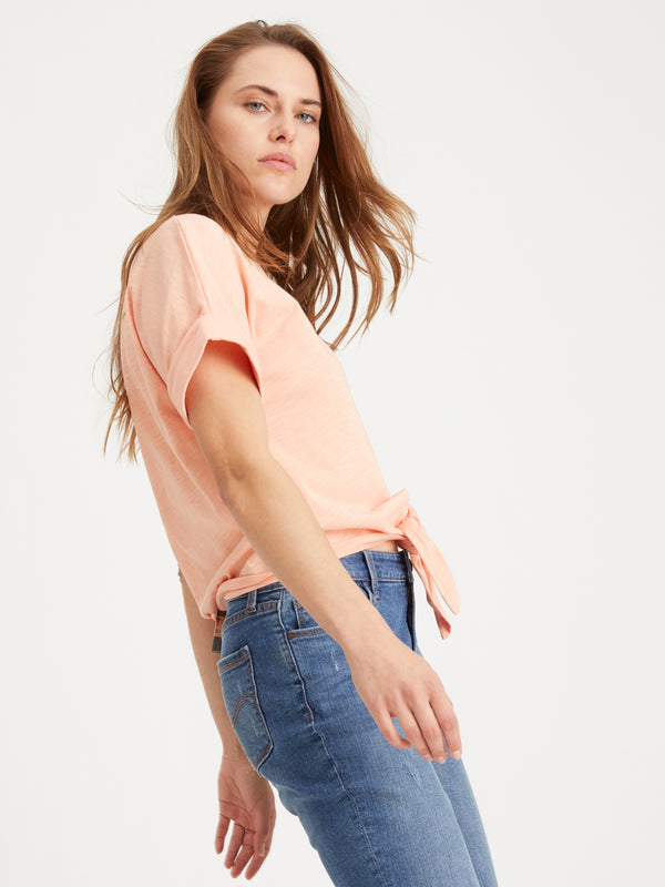 All Day Tie Tee Orange Sherbert - Orange Sherbert / XXS -
