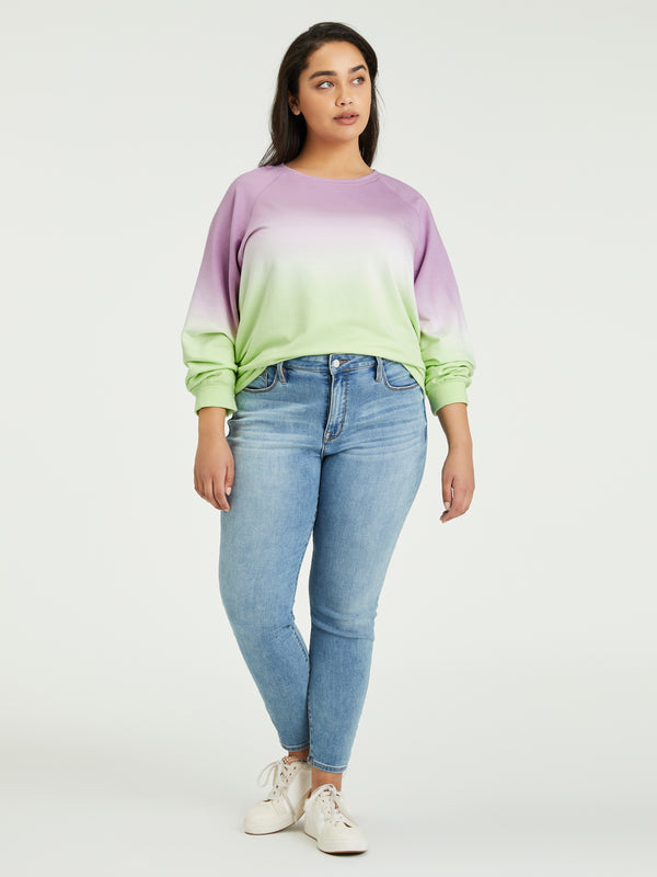 Happy Days Sweatshirt Lavender / Lime Airbrush Inclusive Collection