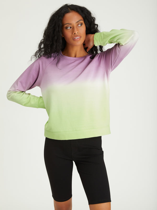 Happy Days Sweatshirt Lavender / Lime Airbrush - Sweatshirt