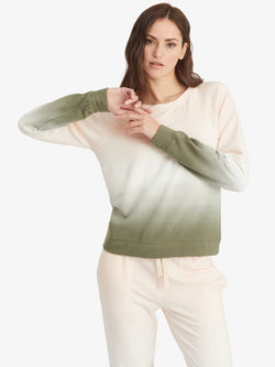 Happy Days Sweatshirt Lotus Organic Green Airbrush - Lotus