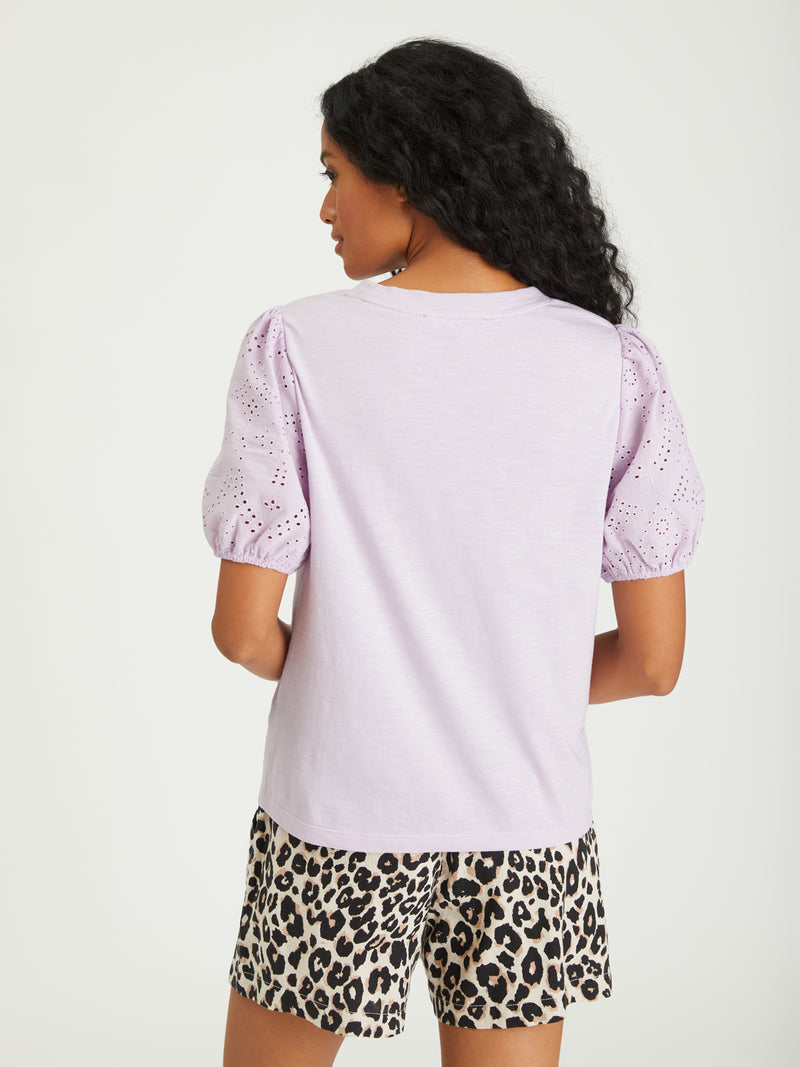 Not So Basic Tee Lavender Ice - Knit Top