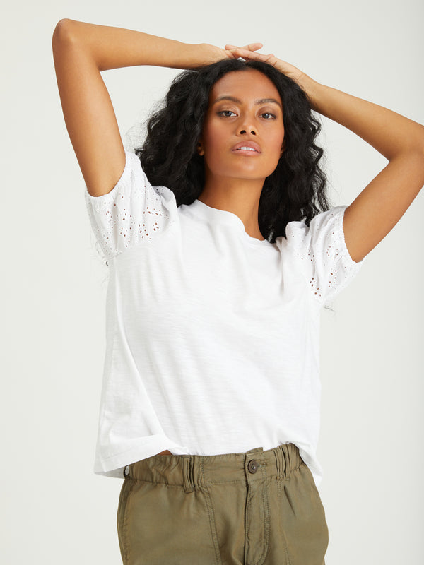 Not So Basic Tee White - Knit Top
