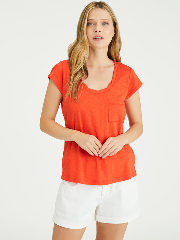 Traveler Twist Tee Sunfire