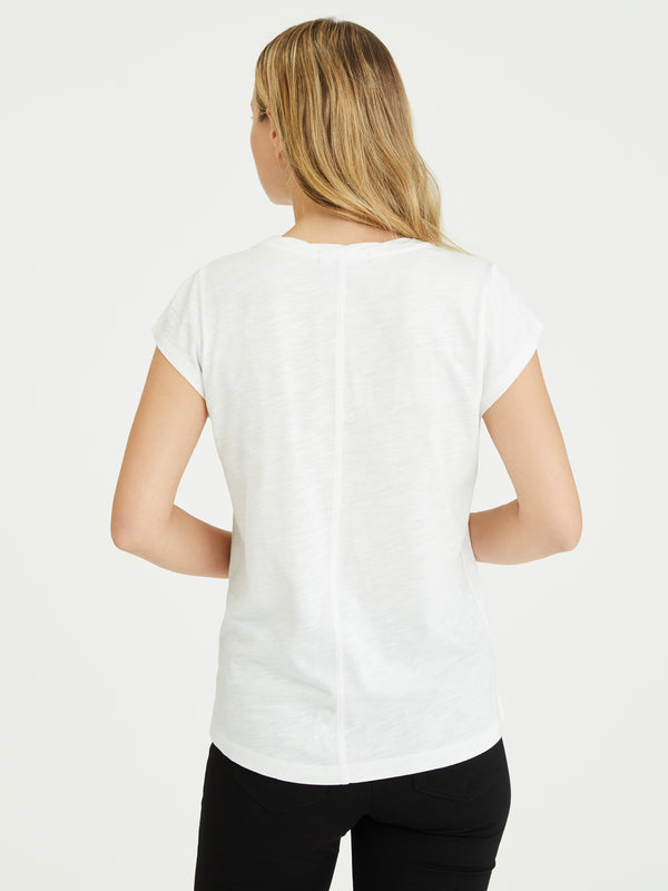 Traveler Twist Tee White