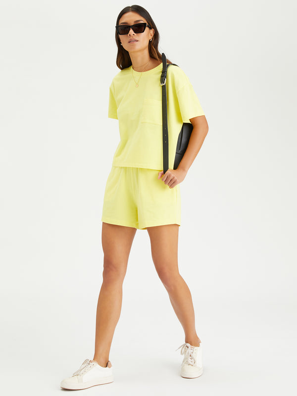 Essential Knit Short Mellow Yellow