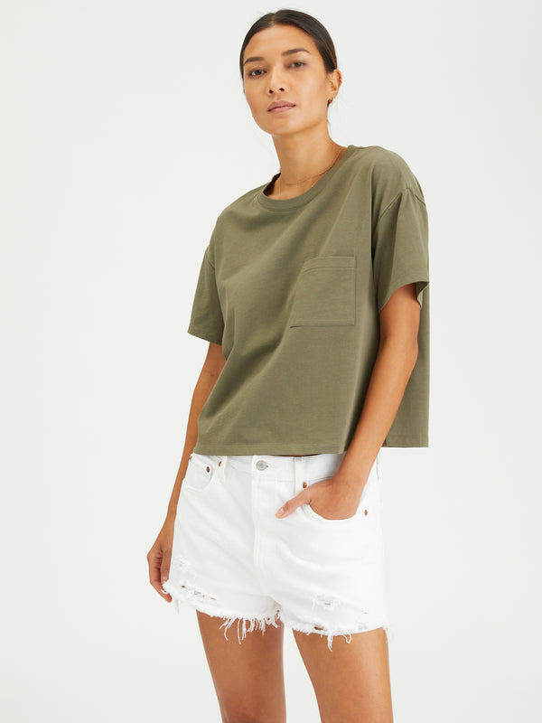 Essential One Pocket Tee Organic Green
