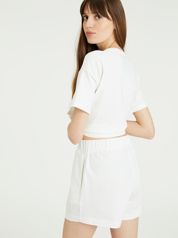 Essential Knit Short White