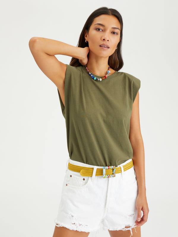 Shoulder Pad Tee Organic Green