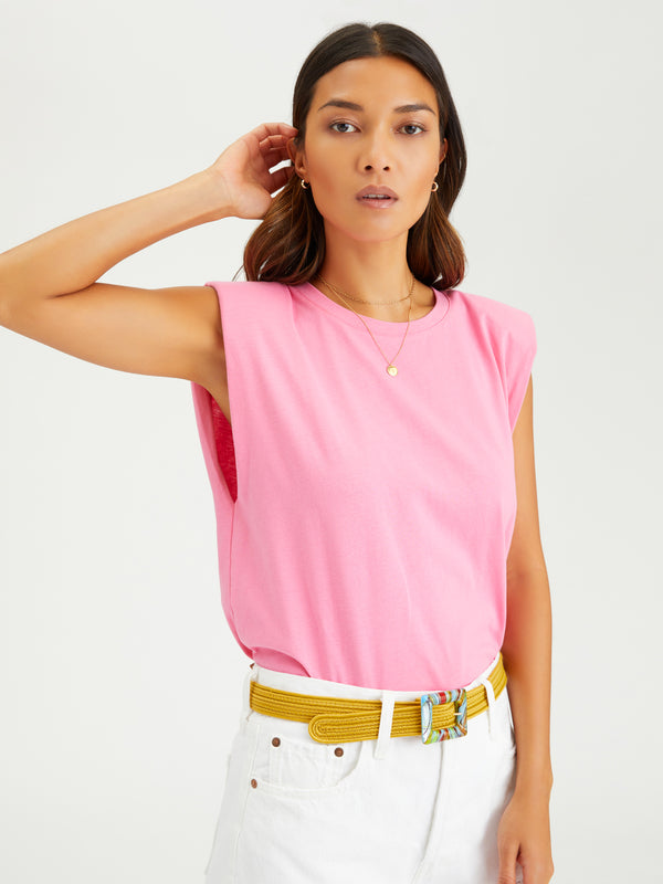 Shoulder Pad Tee Sugar Pink