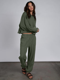 Perfect Sweatpant Organic Green - Sweatpant
