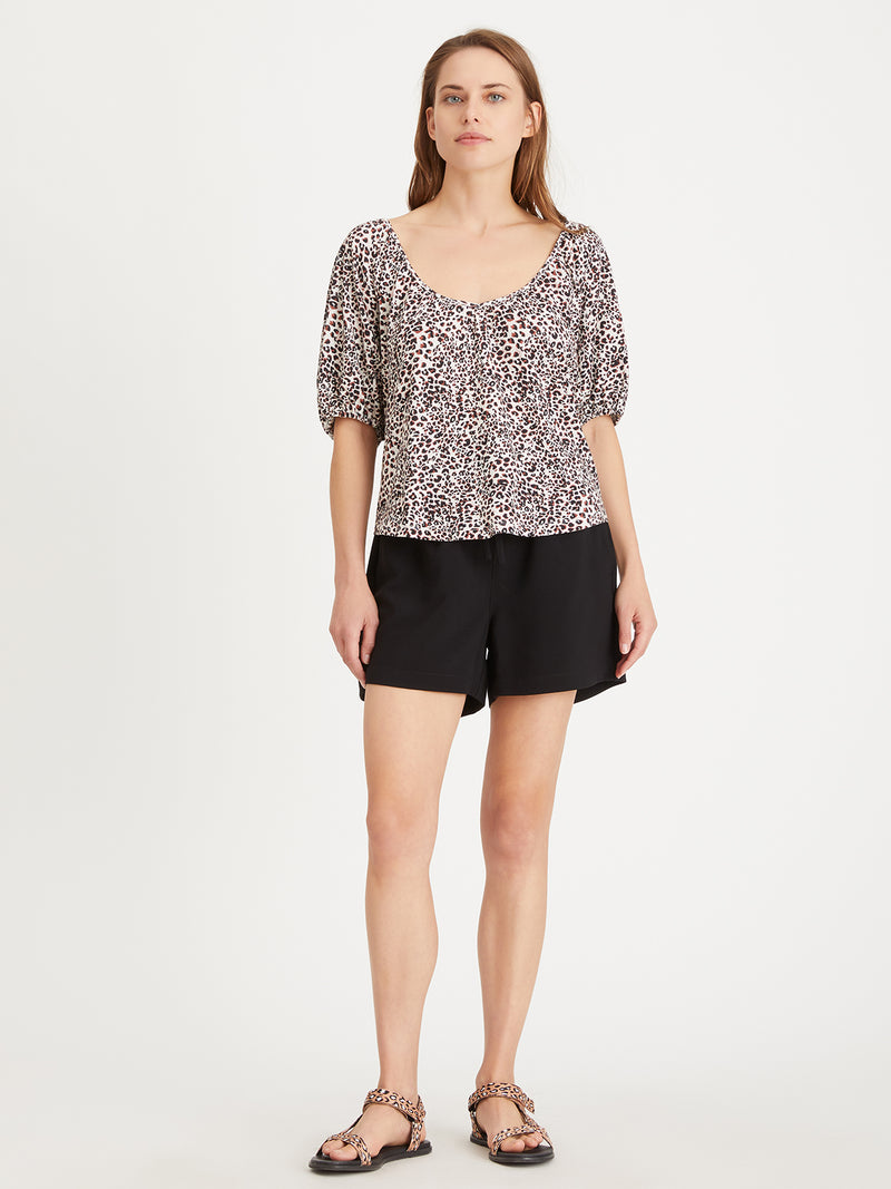 The Nap Tee Air Leopard Lotus - Knit Top