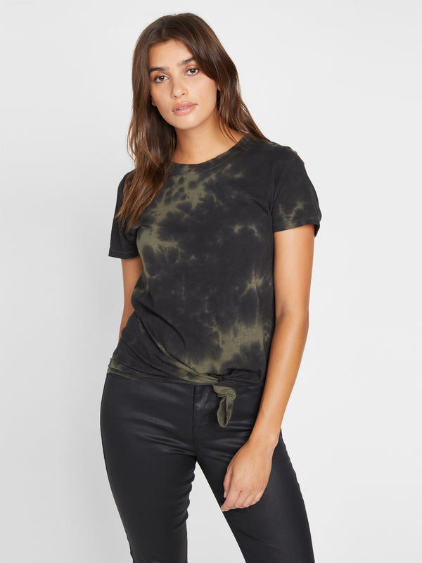 Perfect Knot Tee Tie Dye Green Black