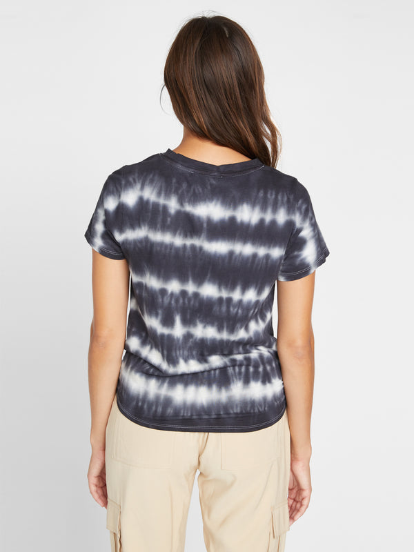 Perfect Knot Tee Tie Dye Black Stripe