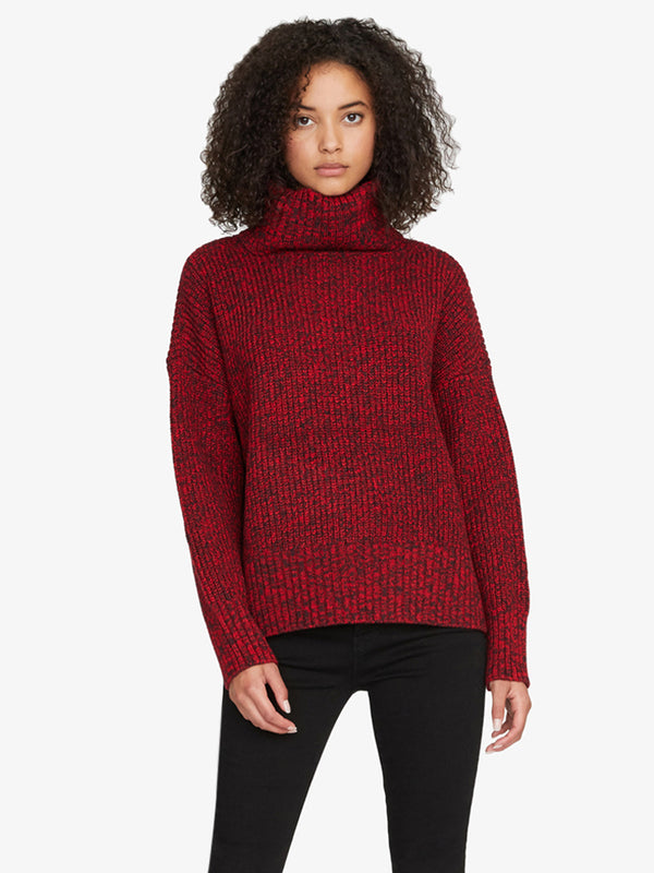 The Roll Neck Sweater Party Red And Black