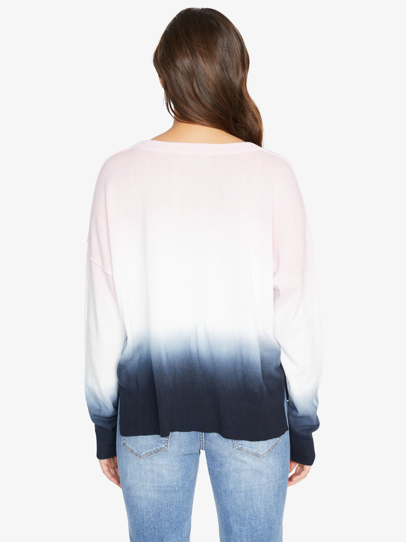 Sunsetter Tie Dye Sweater Black Pink Air Ombre