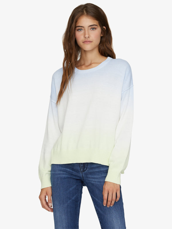 Sunsetter Tie Dye Sweater Sea Foam Lime Zest Ombre