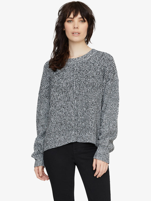 Sorry Not Sorry Sweater Marled Black