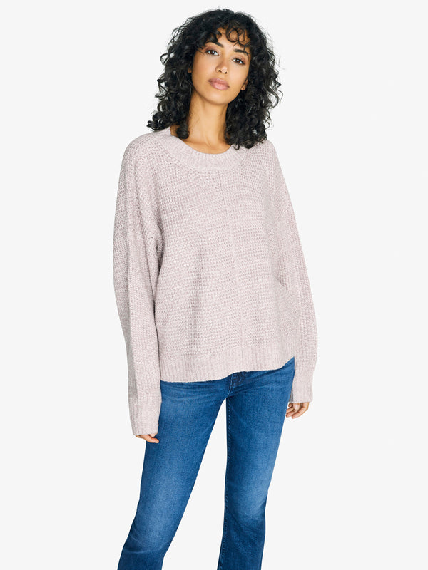 Sorry Not Sorry Sweater Marled Lavender Stone