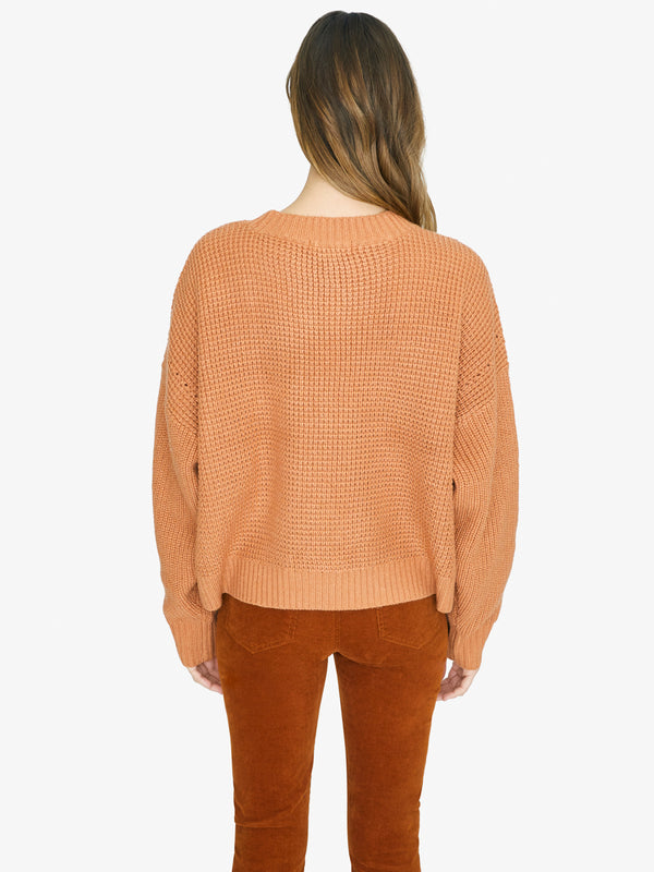Sorry Not Sorry Sweater Washed Carnelian