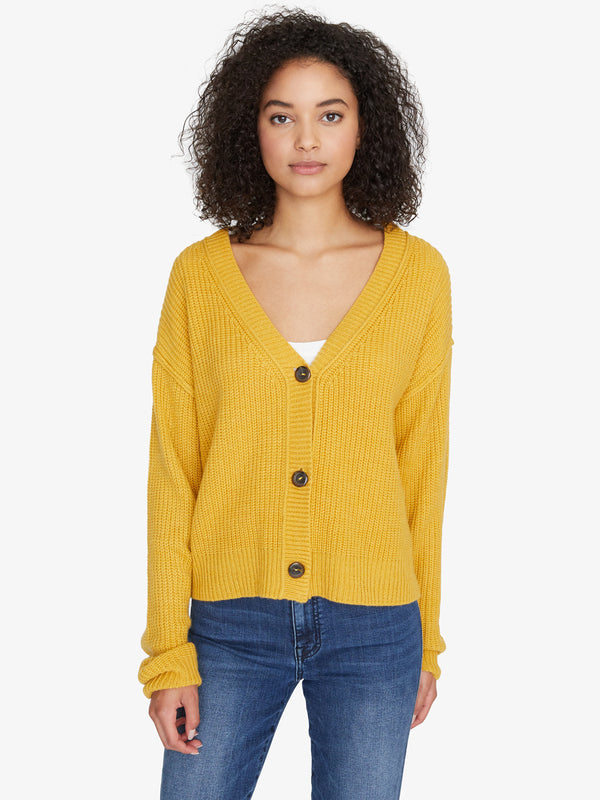Fall For It Cardi Heather Citrine