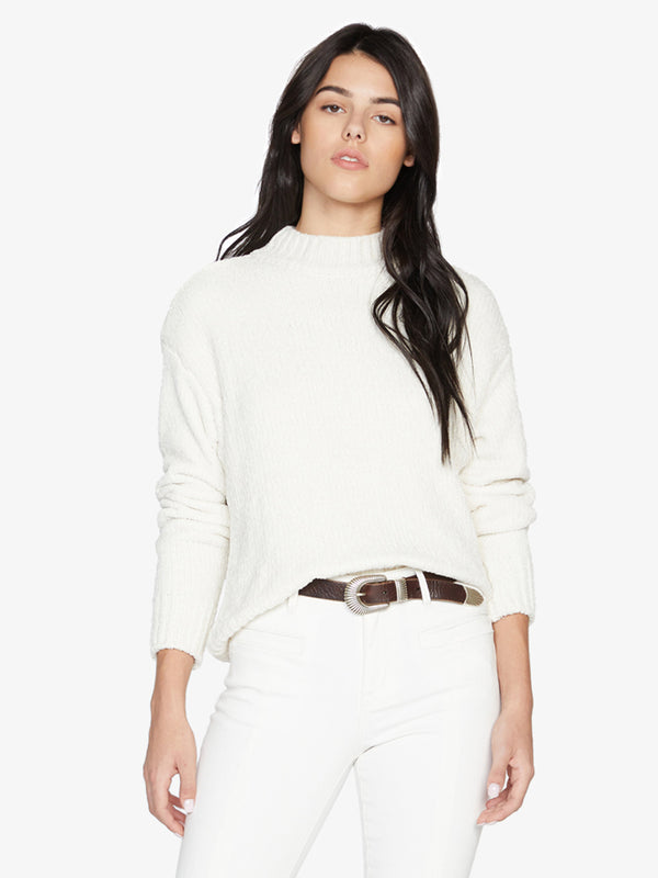Chenille Mock Neck Sweater Cloud