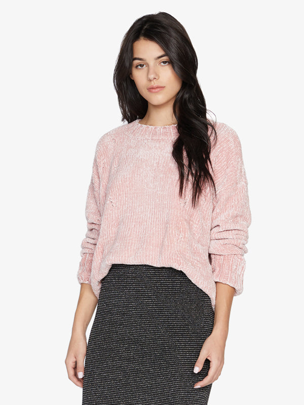 Chenille Cable Sweater Rose Quartz