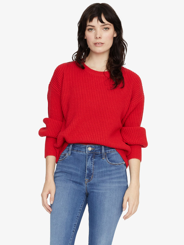 Turn Up The Volume Sweater Party Red