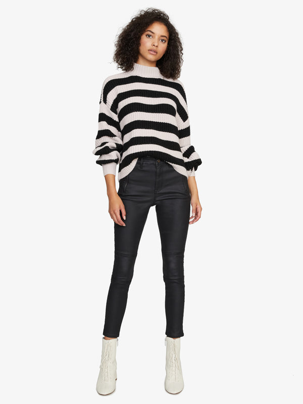 Sweet Tooth Striped Sweater Light Pearl/Black Stripe
