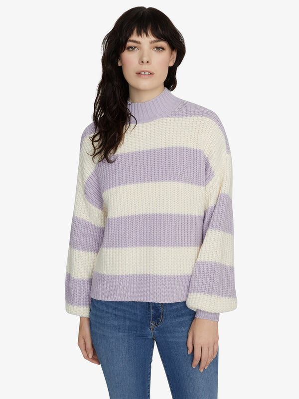 Sweet Tooth Striped Sweater Lilac Snow/Moonstone Stripe