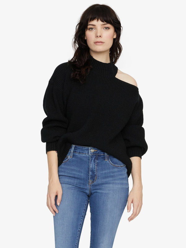 Go All Cut Out Sweater Black