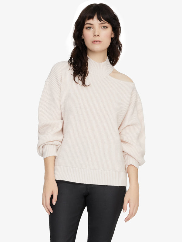 Go All Cut Out Sweater Light Pearl