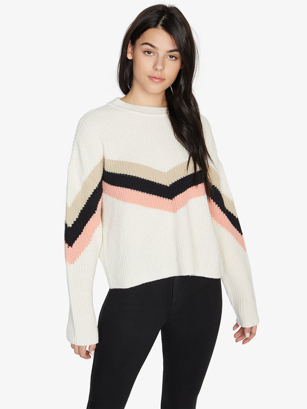 Apres Ski Sweater Cloud/Stone/Black/Washed Coral