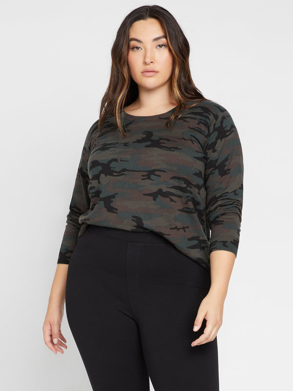 Spot On Popover Sweater Forest Camo Inclusive Collection