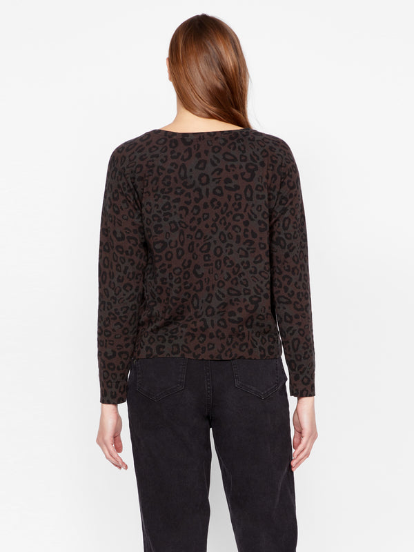 Spot On Popover Sweater Dark Leo Camo
