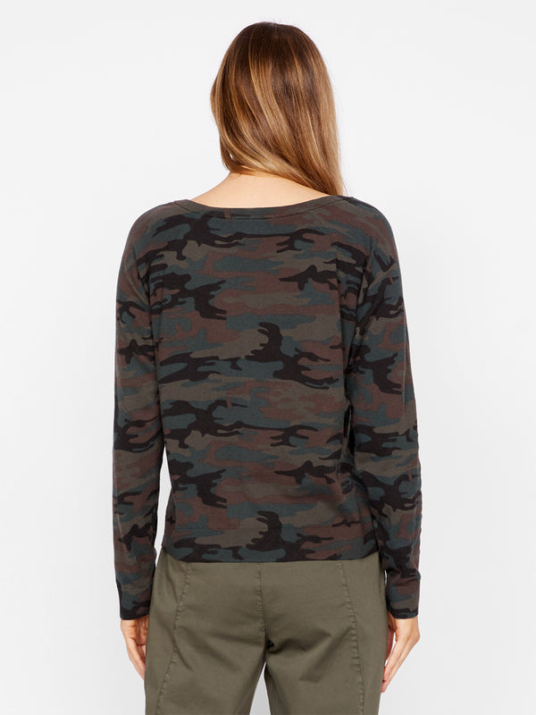Spot On Popover Sweater Forest Camo