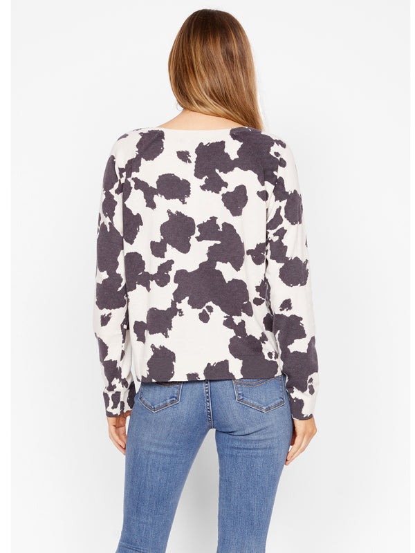 Spot On Popover Sweater Small Pony Soy Milk