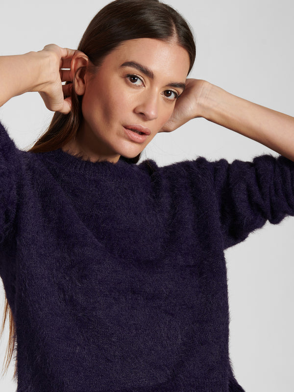 Super Soft Popover Sweater Dark Grape