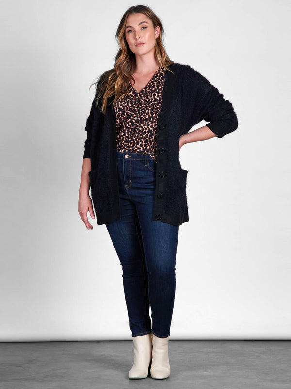 Super Soft Social Cardi Black Inclusive Collection